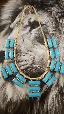 Collier necklace jewerly ancien  rétro vintage chic  turquoise