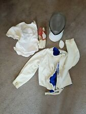 Childrens fencing clothing and mask