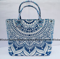 Indian Handbag Tote Bag Mandala Purse Lady Multi Shoulder Cotton Women Satchel