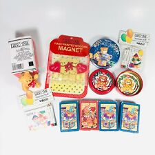 Vintage Enesco Lucy & Me Teddy Bear Lot Mini Playing Cards Figurine Magnet Gifts
