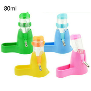 3 in 1 Hamster Water Bottle Holder Dispenser With Base Hut Animal Nest 80ml