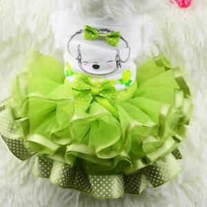 Pet Puppy Small Dog Cat Lace Princess Tutu Dress Skirt Clothes Apparel Costume