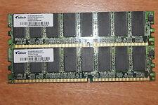 LOT DE 2 BARRETTES DE MEMOIRE 512MO DDR1 PC3200 400Mhz DIMM PC FIXE OK ELIXIR