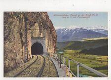 Mittenwaldbahn Tunnel An Der Wand Mit Patscherkofel Switzerland Postcard 352b