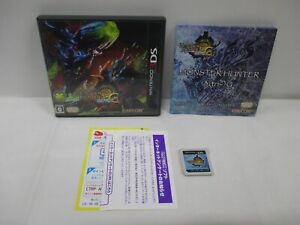 3DS -- Monster Hunter 3G -- Can data save! Nintendo 3DS, JAPAN Game. 58783