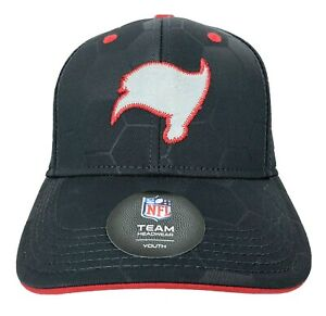 Tampa Bay Buccaneers Gray & Red YOUTH SIZE Hat Stitched Logos NFL Licensed NWT