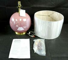 Catalina Lighting 20949-000 Contemporary Round Table Lamp Pink