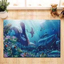 Ocean Animal Shark Fishes Non-Slip Floor Outdoor Indoor Front Door Mat bathroom