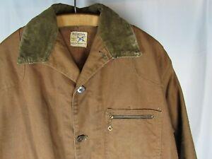 Vtg 1950s SuperDux Hamilton Carhartt Brown Duck Hunting Jacket Work Wear 50s