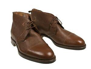 Silvano Lattanzi Brown Basketball Leather Boots 10 (EU 9) Hand-made in Italy