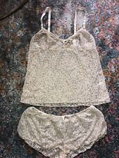 9f40d2d8c202ce Moschino Lingerie Flower Gold Nude Teddy Top Shorts M Sleeping Set