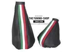 Per ALFA ROMEO GTV SPIDER 98-05 Gear & Freno A Mano Ghetta in Pelle Strisce ITALIA