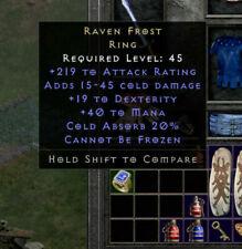 Raven frost random Diablo II 2 Resurrected EU/US Softcore D2 Items