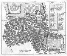 Antique maps, Parish of St Giles's in the Fields