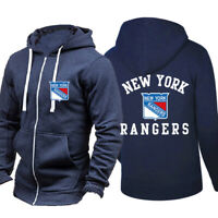 New York Rangers Hoodie Sports Jacket Hockey Hooded Coat Loose Fit Sweatshirt