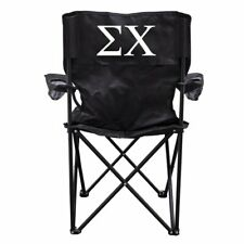 Sigma Chi Black Folding Camping Chair with Carry Bag