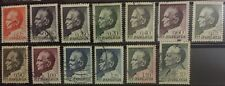 Definitive stamps ,President of Yugoslavia, Tito, 13 stamps , 1 duplicate