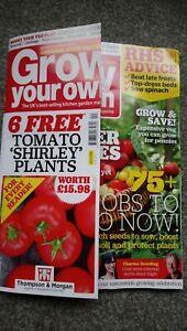 Grow your own magazine April 2021 Free tomato plant offer