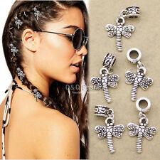 5x Dragonfly Rasta Mambo Bead Dreadlocks Dread Braid Hair Cuff Dress Clip Pin CJ