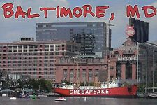 Lightship Chesapeake Baltimore Maryland Lighthouse Ship Hardrock Cafe - Postcard