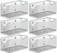 Ybm Home Wire Mesh Open Bin Basket Silver 11 in. L x 5.1 in. W x 5 in. H 6 Pack