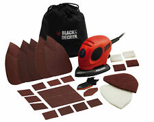 Black&Decker Levigatrice Palmare orbitale 55W Mouse + 15 accessori casa  KA161BC