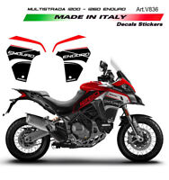 Adesivi per fiancate laterali mod. 2- Ducati Multistrada ENDURO 1200 / 1260
