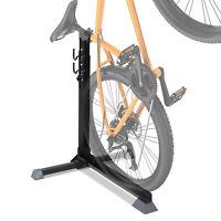 74cm Adjustable Metal Bike Rack Home Cycle Storage Stand w/ Safety Strap Black