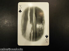 Vintage California Souvenir Three of Clubs playing card
