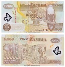 ZAMBIA 500 KWACHA 2009 Polymer UNC banconote P-43g