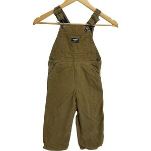 OshKosh B'gosh Toddler Boy's Corduroy Overalls lined Size 3T
