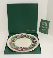 Lenox Colonial Christmas Wreath Collector Plate; 1982 Massachusetts 2nd Colony