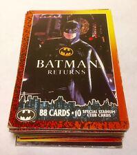 53 Topps + 4 Topps Stadium Club Batman Returns Trading Cards