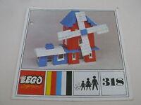 Lego notice set 318 / instruction set 318