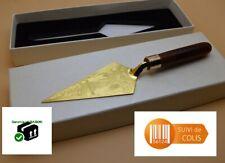 Truelle symbole ésotérique franc-maçon acier et bois franc-maçonnerie 20 cm
