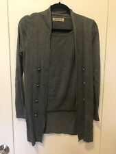 EUC See by Chloe Sweater Gray Sweater SZ 38 Pull Over Cardigan Knit