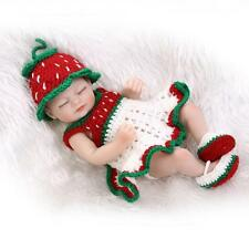 Newborn Body Dolls Full Silicone Real Reborns for Sale Strawberry Sweater 11inch