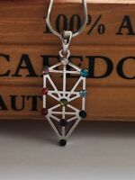 Sacred Geometry Kabbalah Tree of Life Necklace - Hebrew Jewish Judaica Gift