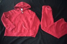 Gymboree Cherry Pie Sweatshirt Sweatpants Hoodie Set Outfit Red Size 12