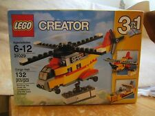 LEGO Creator 31029 New 132 pcs Cargo Heli 3 in 1 Helicopter Airplane Boat Sealed