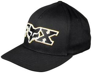 Fox Ellipsoid FlexFit Hat - Black / Yellow - New