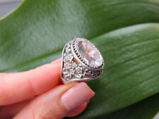 Fine Rock Crystal Ring Vintage Soviet Russian Jewelry Sterling Silver 875 Size 8