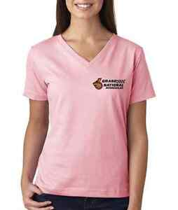 GRAND NATIONAL INTERCOOLED BUICK LADIES V-NECK EMBROIDERED GM  TEE SHIRTS