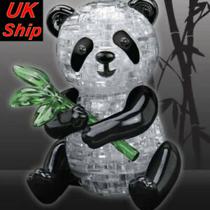 3D Cute Panda Crystal puzzle 57 numbered jigsaw pieces brain teaser Toy UK