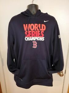 Boston Red Sox 2013 World Series Hooded Sweatshirt Nike Therma-Fit XXL Baseball