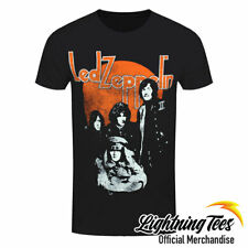Official Led Zeppelin Orange Circle Rock Band T-Shirt