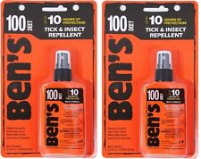 YOU GET (2) Ben's Tick & Insect 100% Deet Military Tactical Repellent Spray 7758