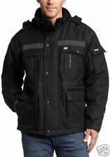 Caterpillar Men's Heavy Insulated Parka Coat, Black, X-Large