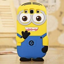 for Samsung Galaxy S3 / SIII Soft Silicone Skin Case Cover Cute Yellow 3D Minion