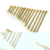 M5/5mm Metric Brass Flat - Round Double Caps Studs Rivets Stud Fastener Set